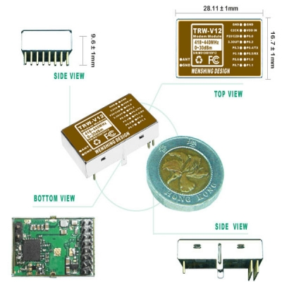 Wireless RF 1W Transceiver Module