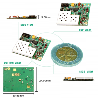 5W 432~436MHz Wireless RF High Power Transceiver Module