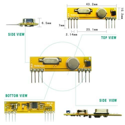 RWS-434N-LV Wireless Super-heterodyne Receiver Module