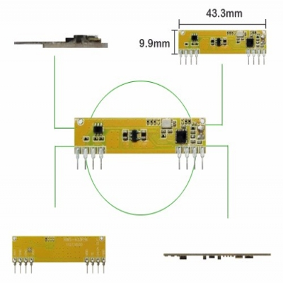 RWS-433FSK 無線高頻接收模組