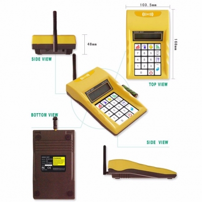 900MHz Wireless Paging Customer Waiting System