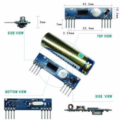 RWS-434N 高感度OOK ASK 高頻接收模組